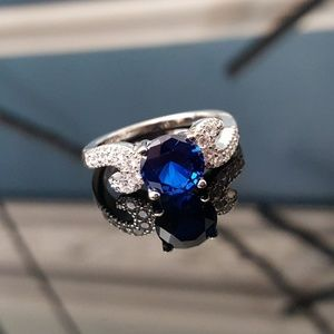 Royal Blue n White Cubic Zirconia